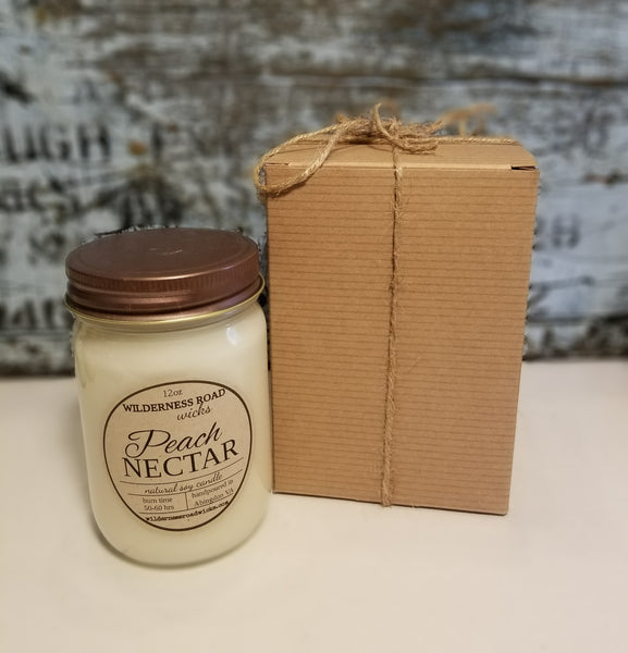 Peach Nectar 12 oz. Natural Soy Candle