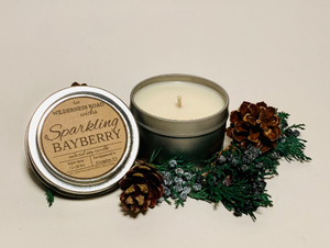 Sparkling Bayberry Travel Tin Soy Candle 4 oz.
