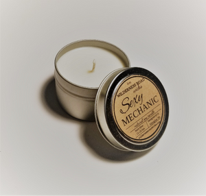 Sexy Mechanic Travel Tin Soy Candle 4 oz.
