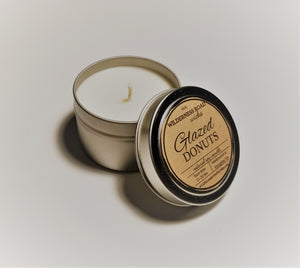 Glazed Donuts Travel Tin Soy Candle 4 oz.