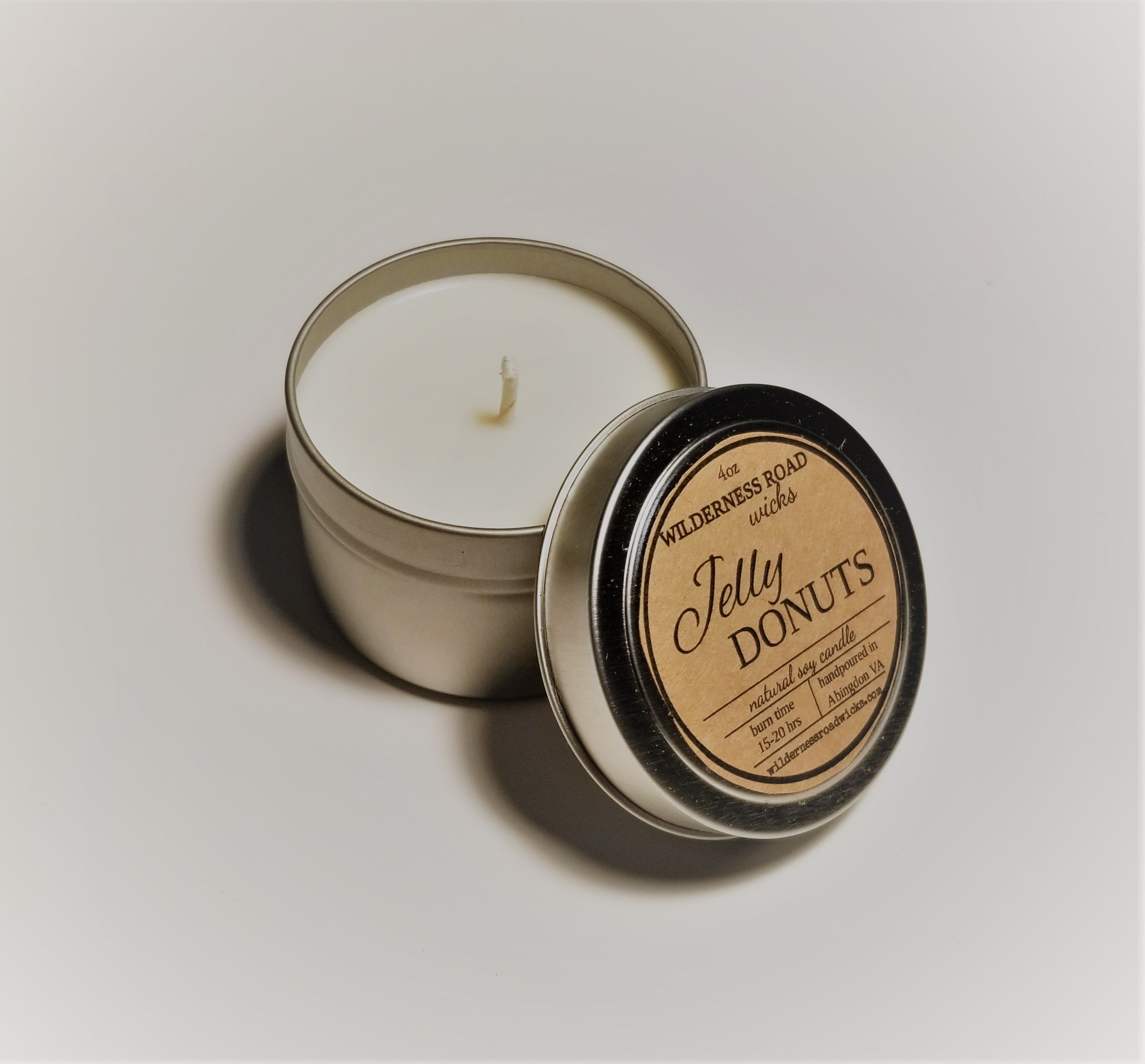 Jelly Donut Travel Tin Soy Candle 4 oz.