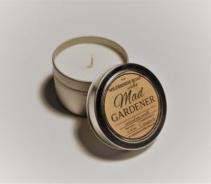 Mad Gardener Travel Tin Candle 4 oz.