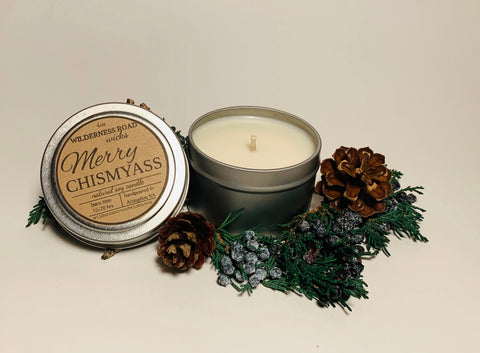 Merry Chismyass Travel Tin Soy Candle 4 oz.