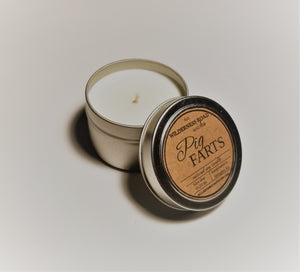 Pig Farts Travel Tin Soy Candle 4 oz.