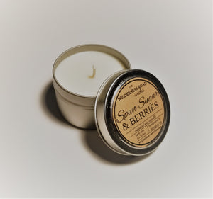 Spun Sugar & Berries Travel Tin Soy Candle 4 oz.