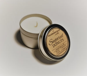 Sugared Donuts Travel Tin Soy Candle 4 oz.