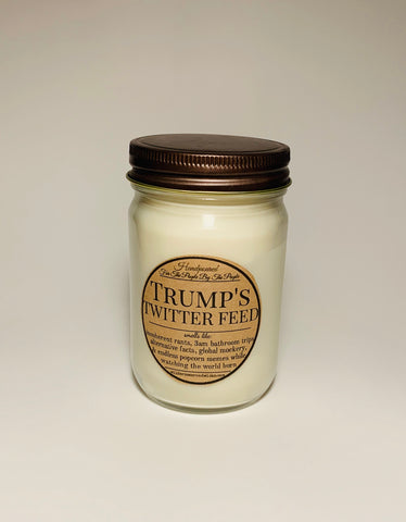 Trump's Twitter Feed Soy Candle