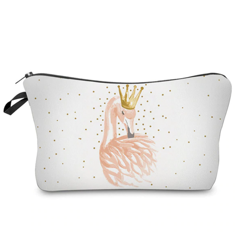Princess Flamingo Makeup Bag
