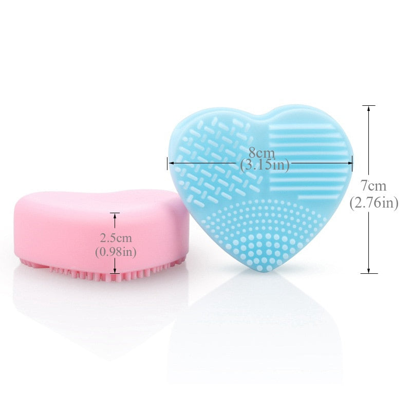 BRAINBOW - Heart Shape Makeup Brush Cleaner