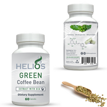 Load image into Gallery viewer, Green Coffee Bean Extract | Formulated with 50% GCA Maximum Potency | 60 Veggie Capsules | Helios Supplements - Helios Supplements