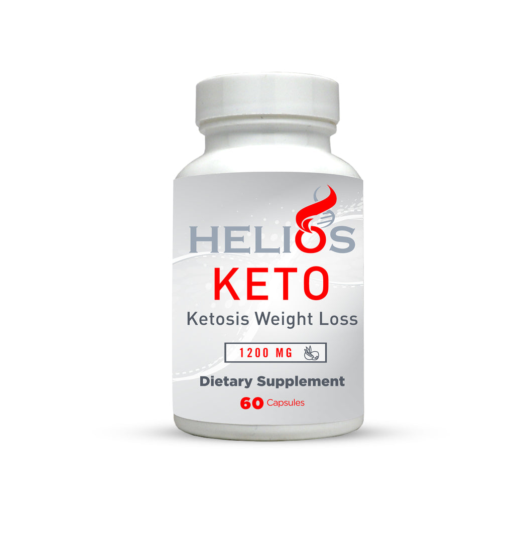 Keto Pills | Ketosis Weight Loss | 1200 Mg Natural Ketogenic Fat Burner Using Ketone Diet, Boost Energy, Focus & Metabolism, Appetite Suppressant, Men & Women | Helios Supplements - Helios Supplements