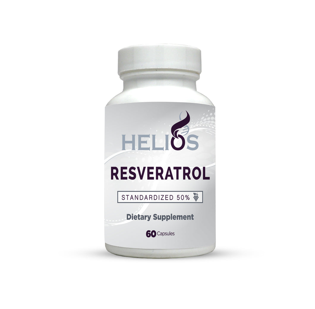 Resveratrol | Standardized 50% | 60 Veggie Capsules | Helios Supplements - Helios Supplements