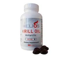 Load image into Gallery viewer, Helios Best Krill Oil Supplement - Omega 3 Packed Antarctic Red Krill Fish Oil With Astaxanthin - USA Manufactured - 60 SoftGels