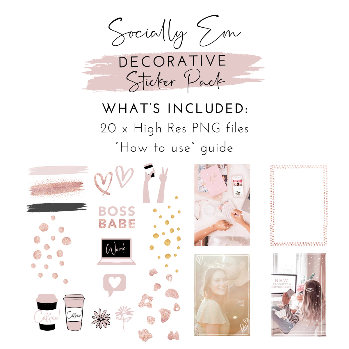 Decorative Instagram Story Sticker Pack