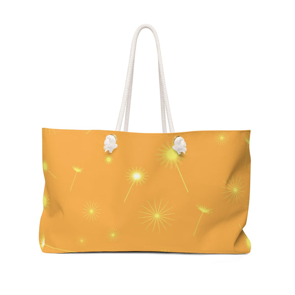 Yellow Dandelion Weekender Bag