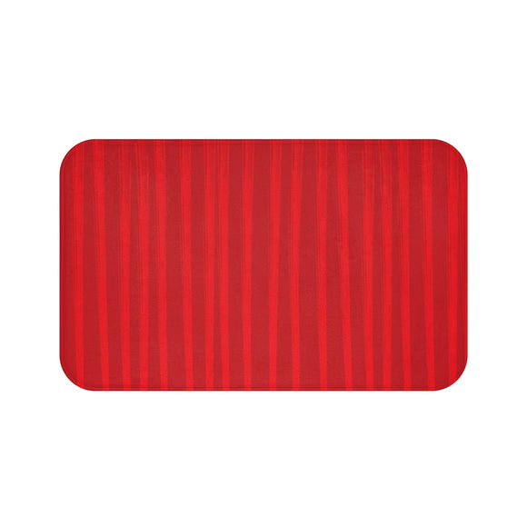 Red Bath Mat - Lines #3