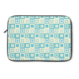 Pale Green and Yellow, Square-patterned Laptop Sleeve