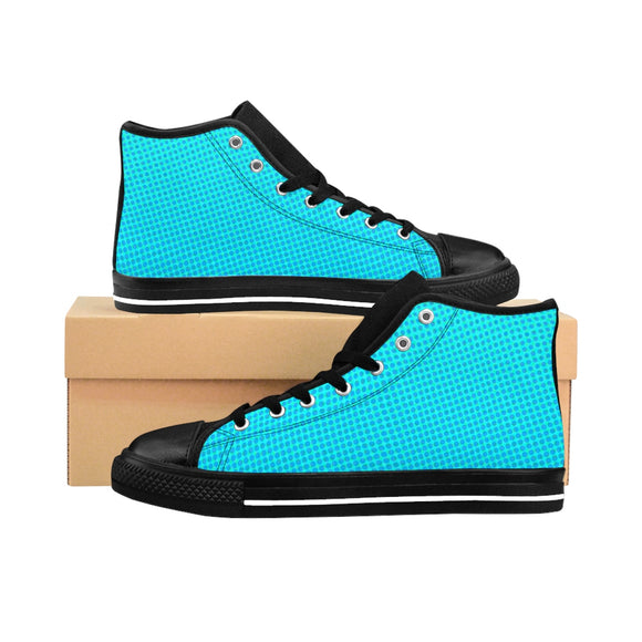 Women's Aqua Halftone High-top Sneakers