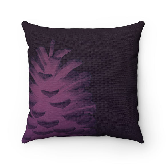 Plum Pinecone Spun Polyester Square Pillow