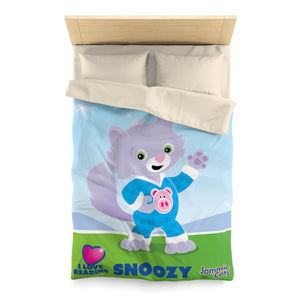"Jammie Cats™ Snoozy ""I Love Reading"" Microfiber Duvet Cover"