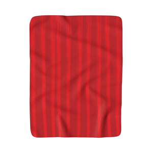 "50"" x 60"" Red Sherpa Fleece Blanket - Lines #3"