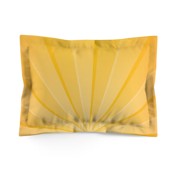 Jammie Cats Yellow Double-sunburst Microfiber Pillow Sham