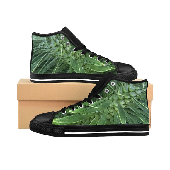 Men's Prickly Palm Black-soled High-top Sneakers
