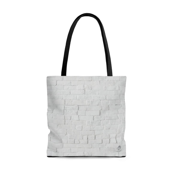 White Brick Tote Bag - 3 sizes