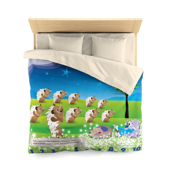 Jammie Cats™ and Hedgehogs Microfiber Duvet Cover