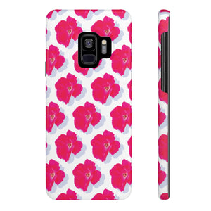 "Rose on White ""Case Mate"" Slim Phone Samsung Cases"