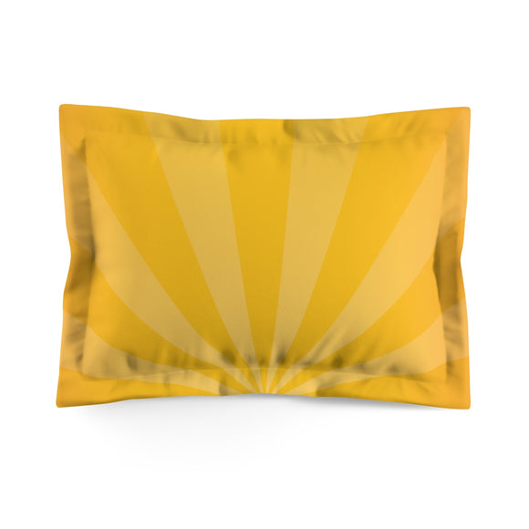 Jammie Cats Yellow Sunburst Microfiber Pillow Sham