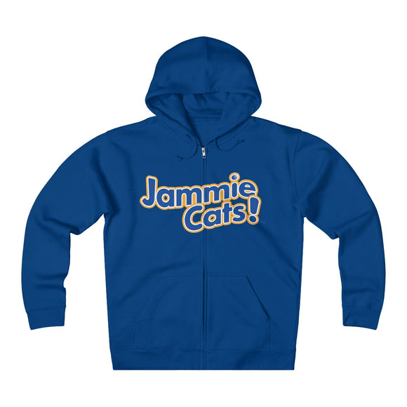 Jammie Cats Women's, Men's, and Teen's Heavyweight Fleece Zip Hoodie
