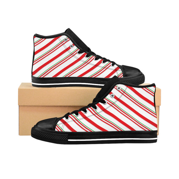 Women's Candy Cane High-top Sneakers