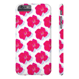 "Rose on White ""Case Mate"" Slim iPhone Cases"