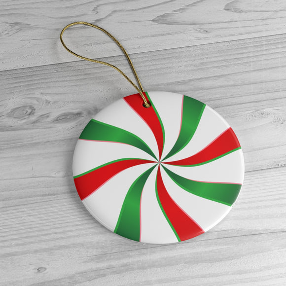 Peppermint Candy Ceramic Ornaments
