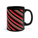 Candy Cane Black Mug - 11oz
