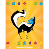 "Jammie Cats Skunk and Yellow Sunburst ""I Love Reading"" Microfiber Duvet Cover"