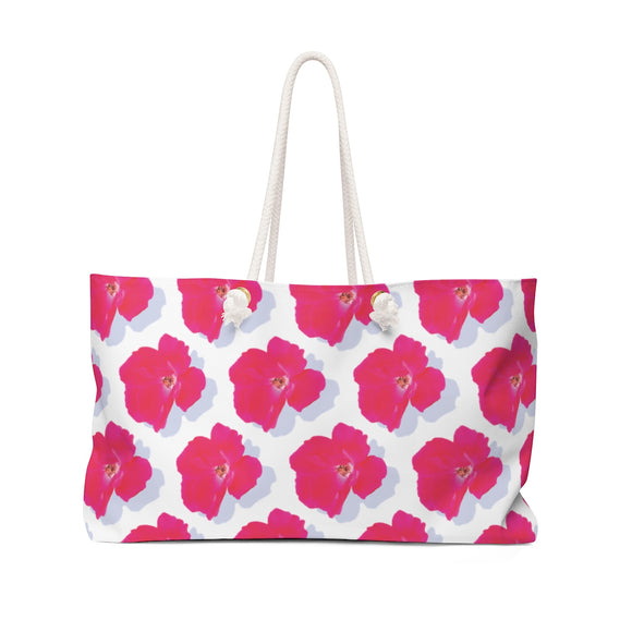 Roses on White Weekender Bag