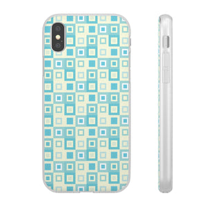 Itten-Grid Sage and Yellow, Square-patterned iPhone Flexi Cases