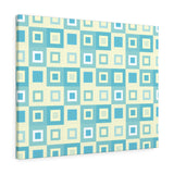 Itten-Grid Sage and Yellow, Square-patterned Canvas Gallery Wrap