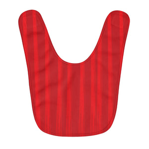 Red Fleece Baby Bib - Lines #3