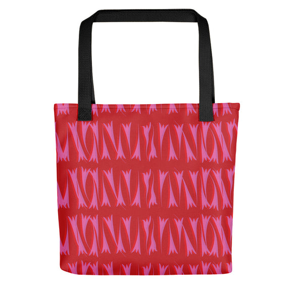 Red Tote Bag - Lines #5