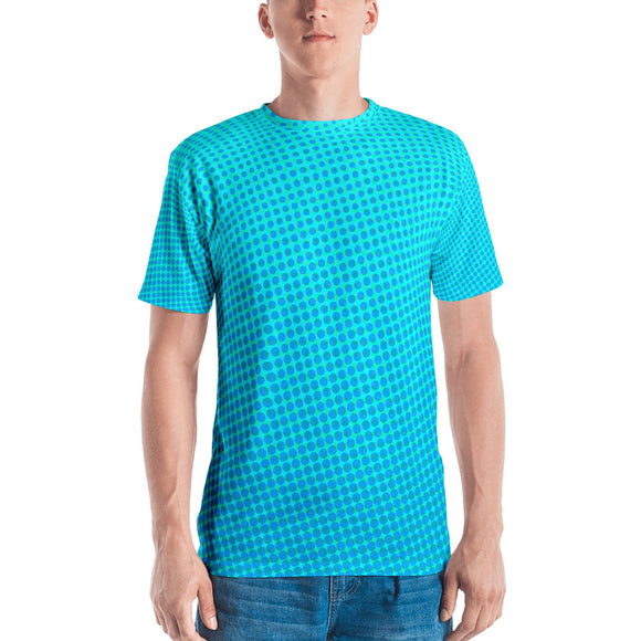 Men's Aqua Halftone T-shirt