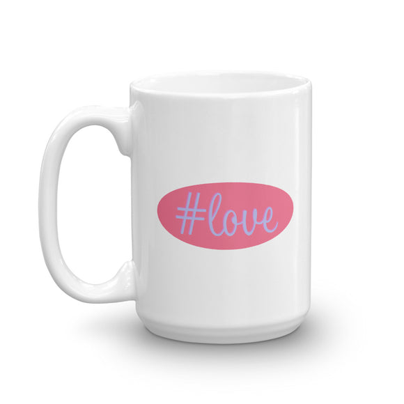 Pink and Purple #love Mug