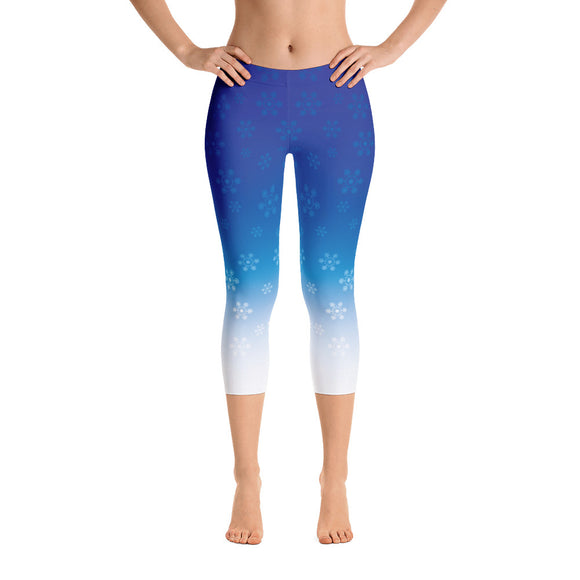 Women's Snowflake Capri Leggings