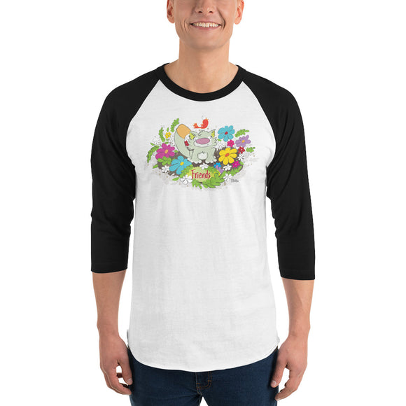 Women's, Men's, and Teen's Friends 3/4 sleeve raglan shirt