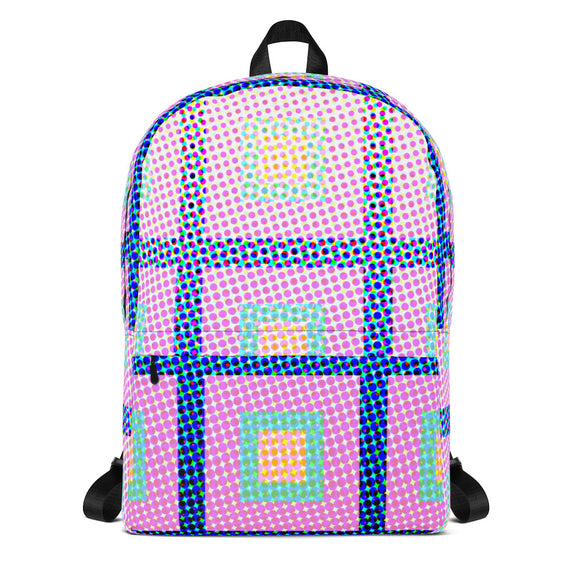 Halftone with Squares Backpack