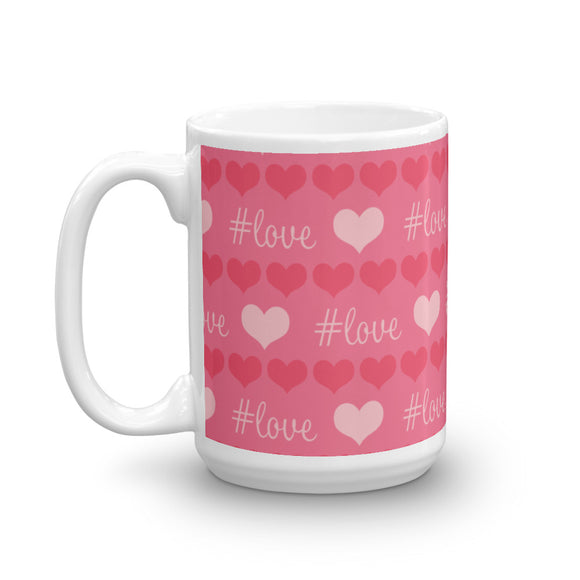 Red and Pink #love Mug