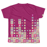 Boogie Woogie Sand and Cranberry Square-patterned Youth T-shirt
