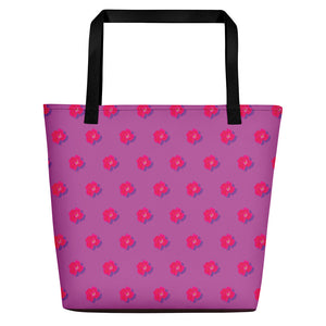 Roses on Rose Beach Bag